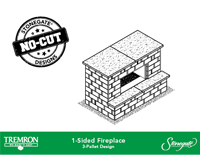 Stonegate No-Cut Designs | 1-Sided Fireplace