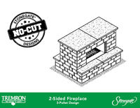 Stonegate No-Cut Designs | 2-Sided Fireplace