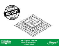 46in Square Fire Pit - WOOD | 2 Course Design
