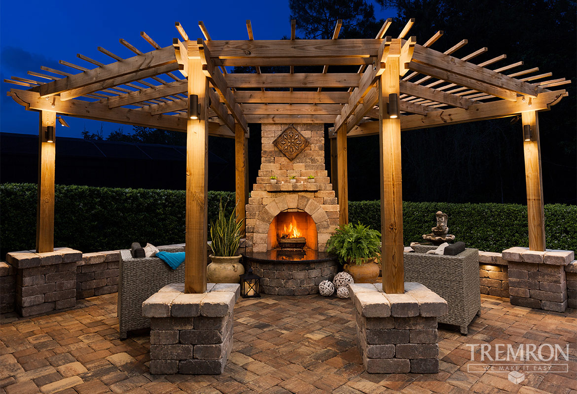 Elegant Munich Fireplace Patio