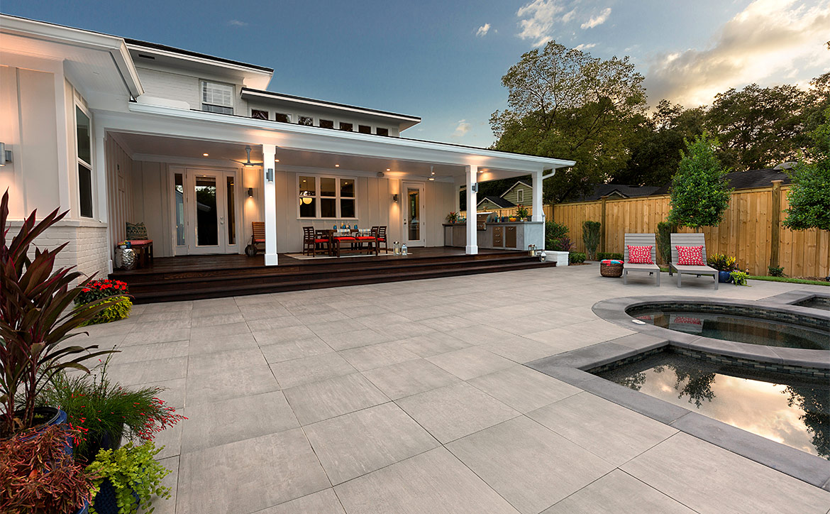 Porcelain Paver Pool Deck