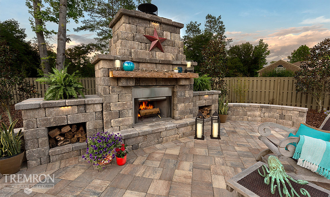 retaining walls fire pits