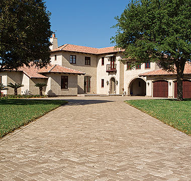 4x8 Brick Pavers Antiqued Cappuccino