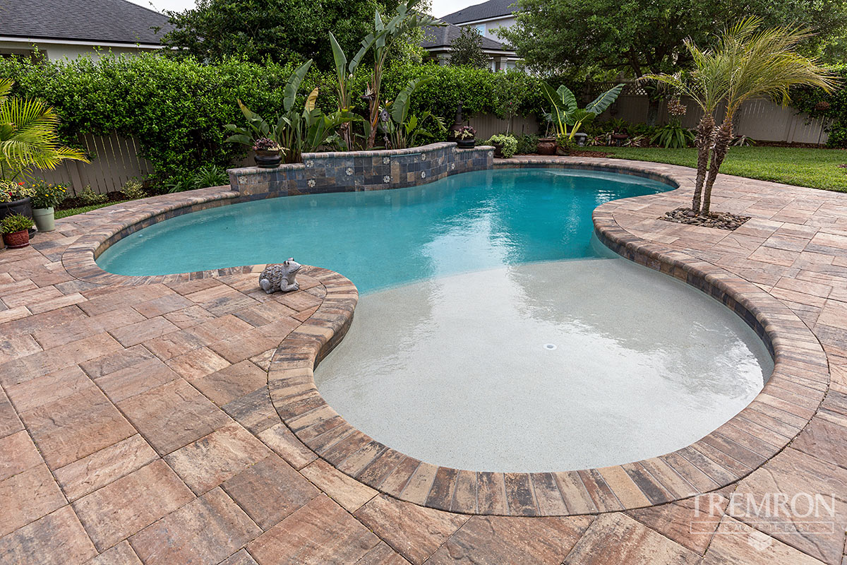 Bullnose Coping Tremron Jacksonville Pavers Retaining