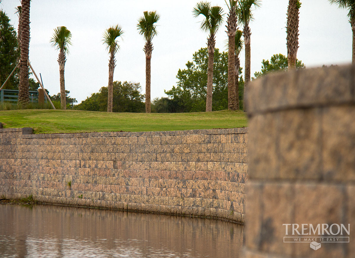 compac retaining wall blocks tremron jacksonville pavers