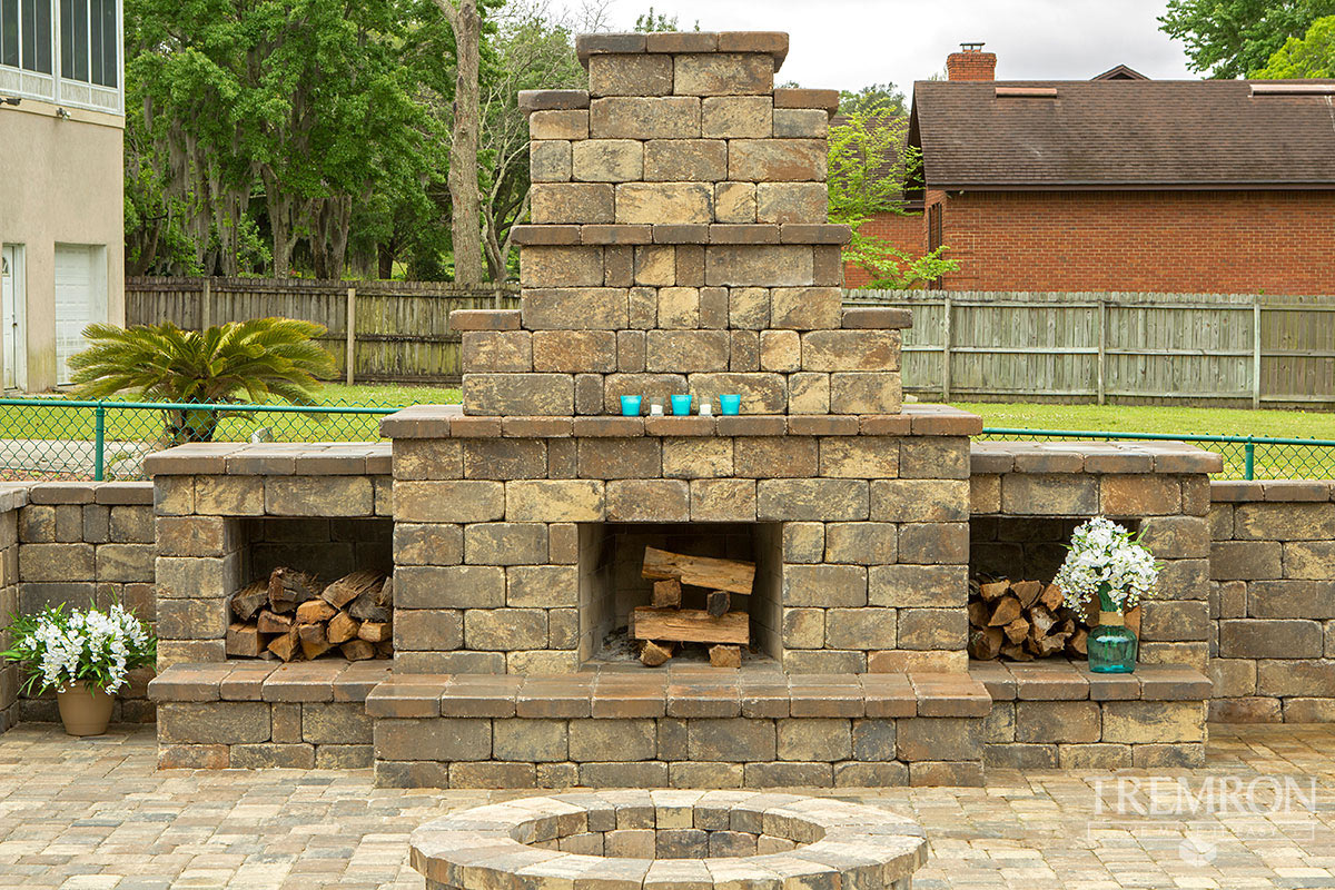 Fireplaces Tremron Jacksonville Pavers Retaining Walls