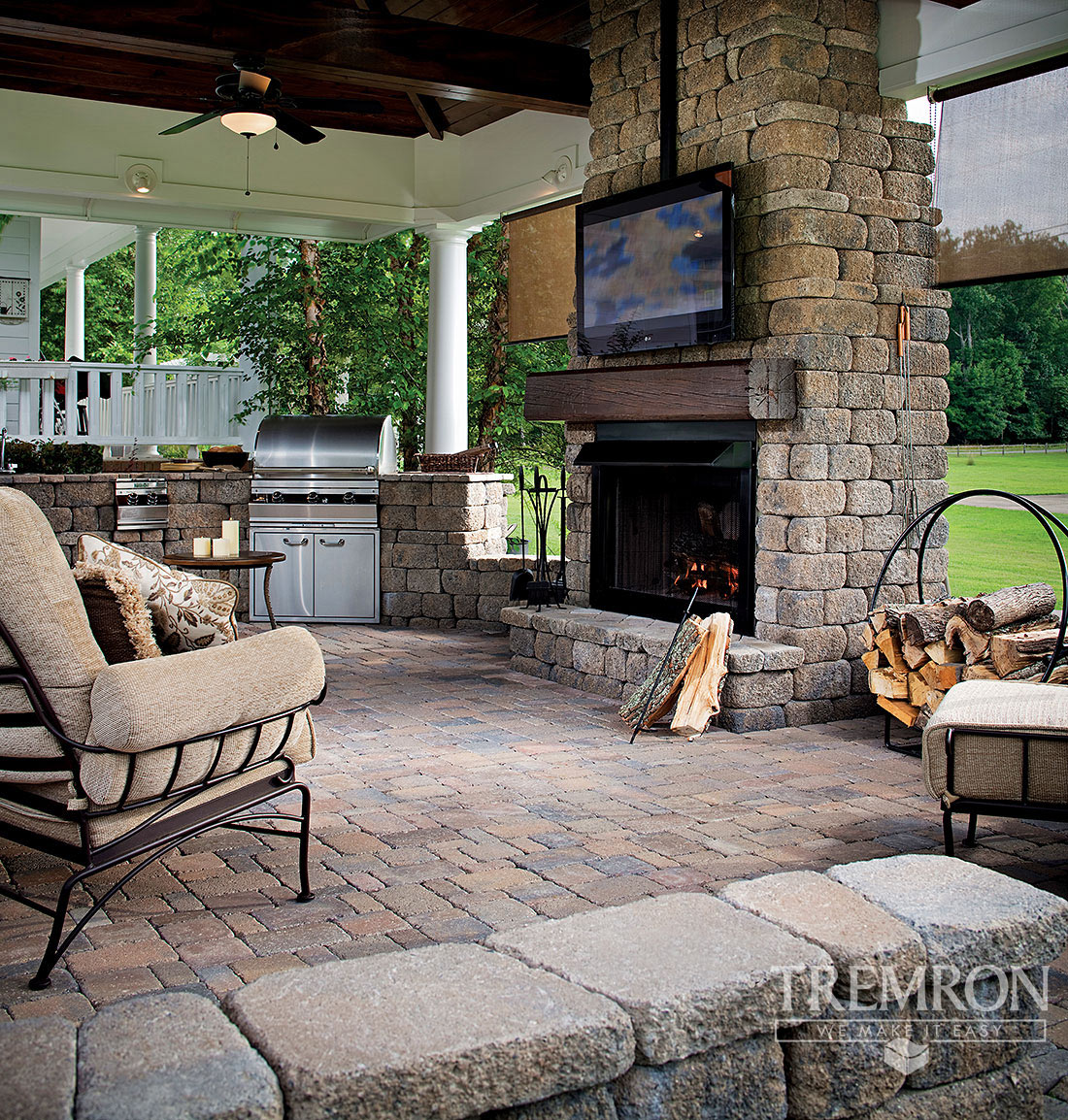 Fireplaces Tremron Jacksonville Pavers Retaining Walls Fire Pits