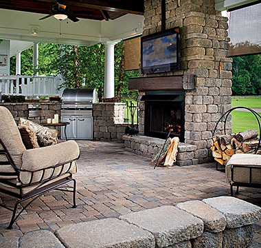 Stonegate Fireplace Oak Run