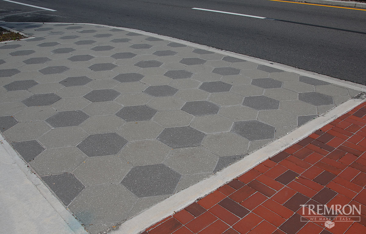 Hexagon Pavers Tremron Jacksonville Pavers Retaining
