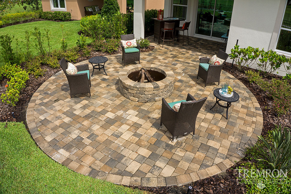 fire pits tremron jacksonville pavers retaining walls fire pits
