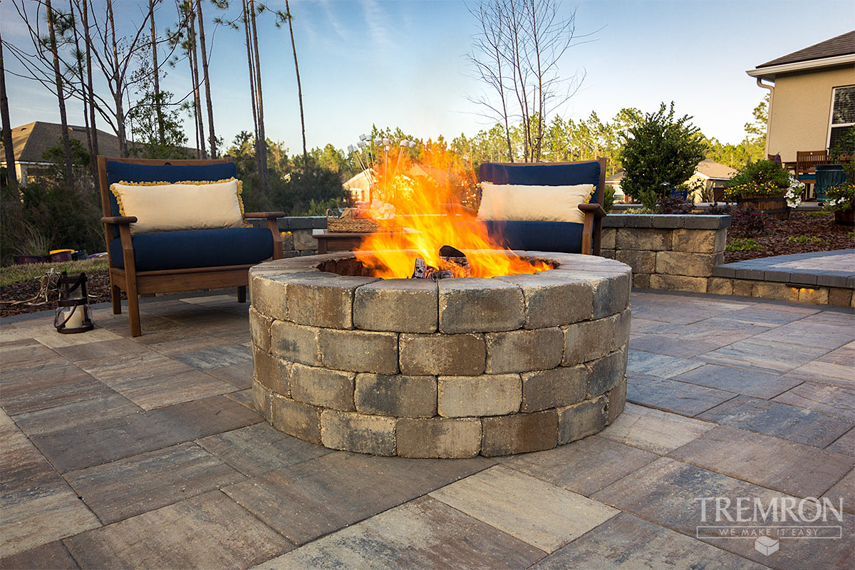 Fire Pits Tremron Jacksonville Pavers Retaining Walls
