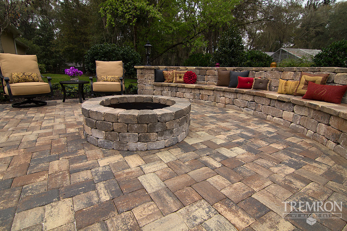 Herringbone Pattern Brick Patio Residential Barlow