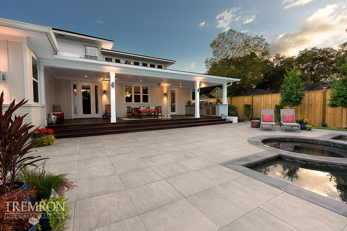 June 2016. Porcelain Paver Pool Deck